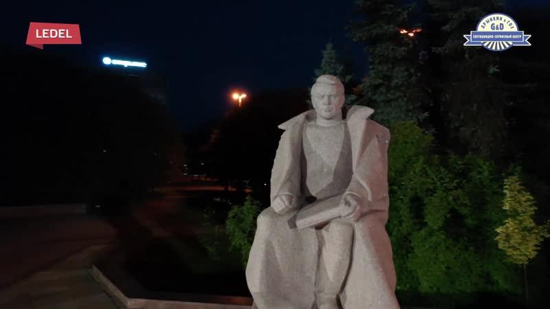 Архитектурная подсветка светильниками LEDEL памятника маршалу Александру Василевскому в Калининграде