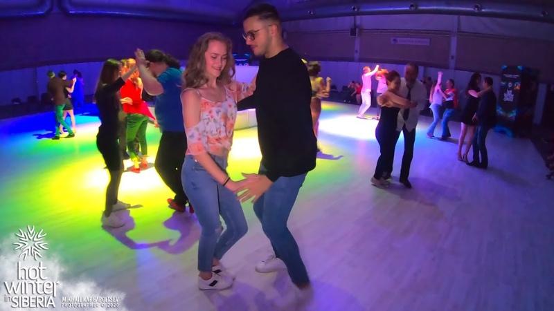 Samy el Magico and Arina Bachata Dominicana social dancing Hot Winter in Siberia