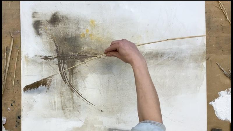 Abstrakte Malerei, simples Werkzeugen, Nass in Nass, squeegee, gegen Langeweile, Anfänger