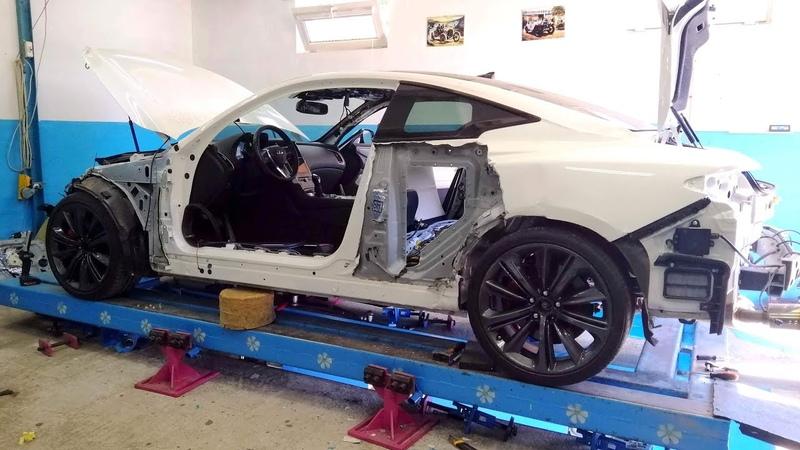 Infiniti Q60 S Повторный удар в заднее крыло Итоги прошлого ремонта