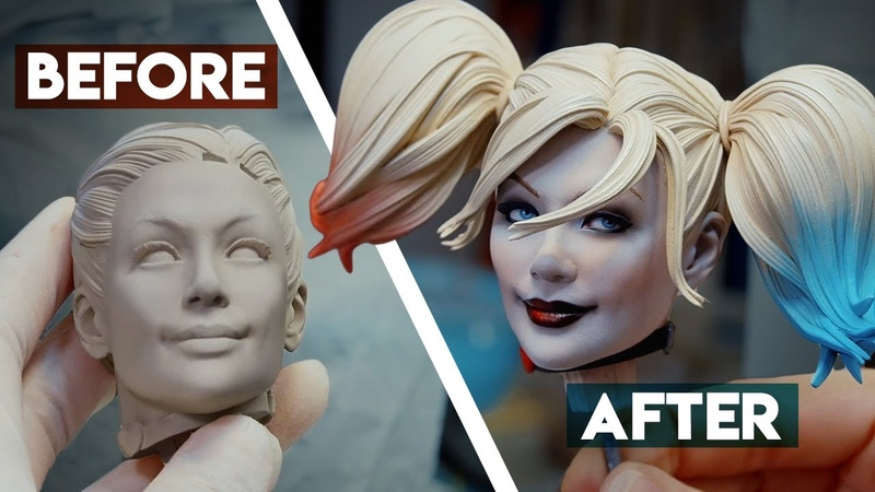Painting the Harley Quinn Premium Format Figure Sideshow Behind the Scenes