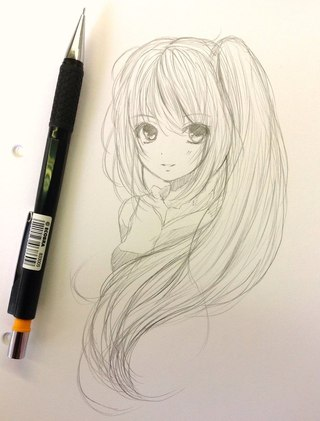 drawing ideas anime - 736×1041