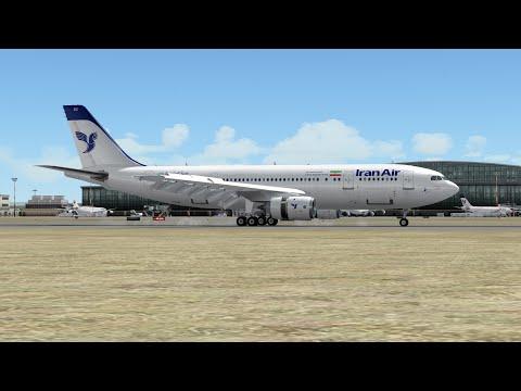 Full flight from Baku to Tehran UBBB OIIE on Airbus A300 Iran Air Prepar3D