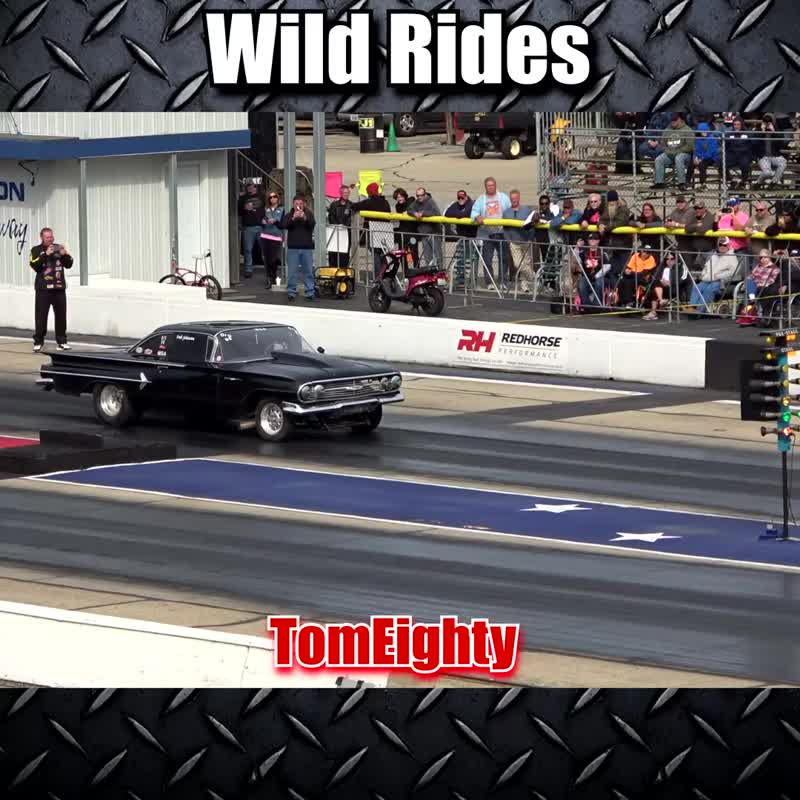 Wild Rides. See some awesome wheelies, crashes, close calls and fireballs that happen while drag racing.