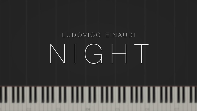 Night Ludovico Einaudi Synthesia Piano Tutorial