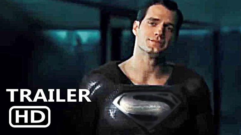 JUSTICE LEAGUE SNYDER CUT Black suit Superman Clip Trailer (2021)