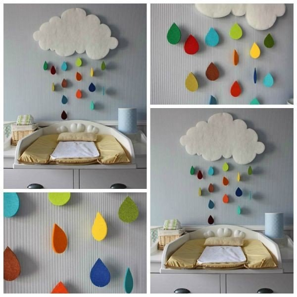 Идея для оформления детской комнаты: разноцветный дождик из...