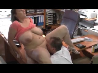 BBW in office with Boss fucked