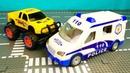 Полицейская машина конструктор поймала Монстр трака 361 Серия Мир Машинок
