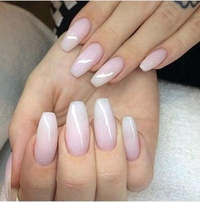pink and white ombre nails - 738×730
