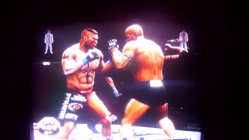 Bill Goldberg vs Brock Lesnar UFC 3 the most brutal Голдберг против Брока Леснара 11DeadFace