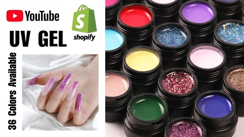 💅NEW NAIL ART ITEMS FROM 36 UV GEL REAL FLOWERS CRACKLE GEL CRYSTAL BRUSH