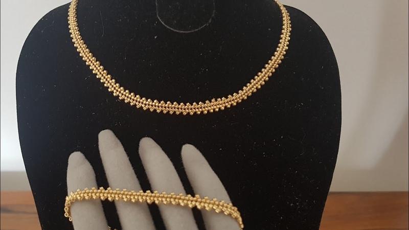 Altın Zincir Kolye Bileklik Yapımı Gold Necklace Bracelet