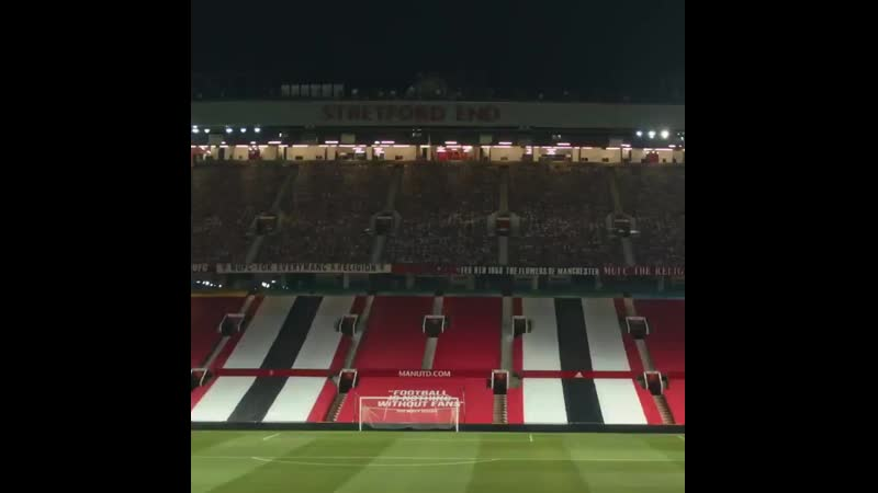 The stage is set for tomorrows homecoming ️ MUFC