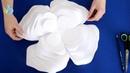 майстер клас обємні квіти з паперу Дементєєва Вікторія