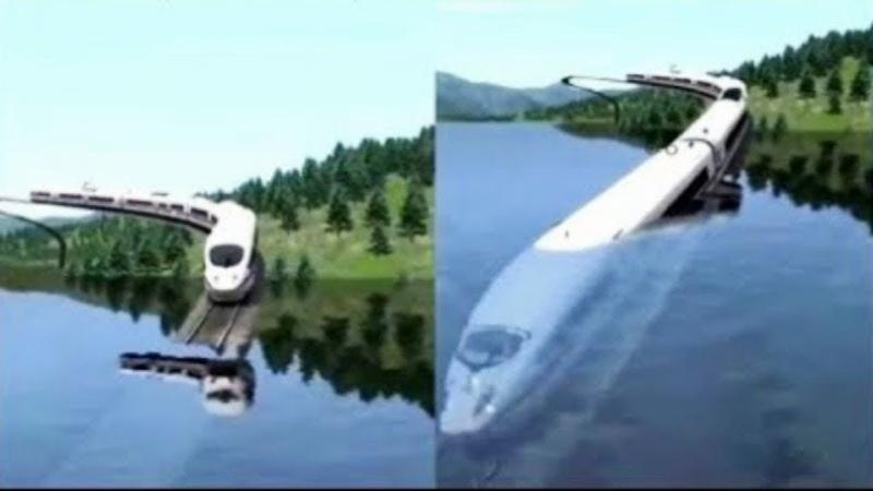 Дубай Построил Подводный Плавучий Поезд