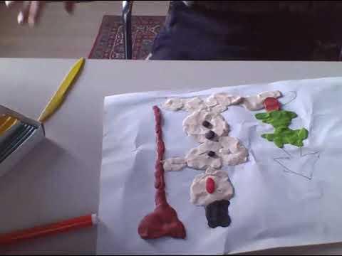 моё второе видео где я закончил рисунок из пластилина