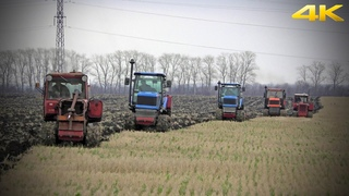 90, 90 75. Russian plowing with caterpillar tractors