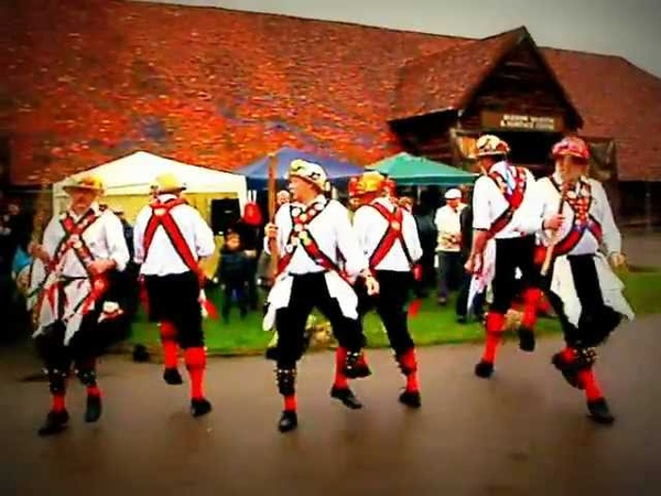 Morris dancing traditional medieval English folk dance
