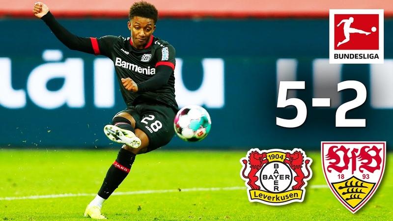 Gray with Debut Goal in 7 Goal Spectacle Bayer 04 Leverkusen VfB Stuttgart 5 2 Highlights