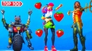 Top 100 Fortnite Dances Emotes Looks Better With These Skins! (Loserfruit, Bounce Berry, Aquaman)