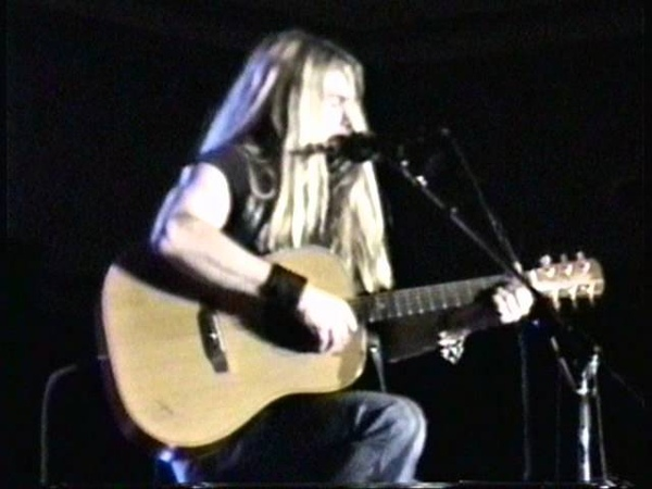 Zakk Wylde 1997 playing harmonica and acoustic guitar Rare Performance