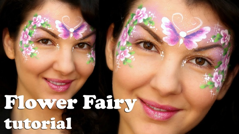 Easy Flower Fairy 🌺 Makeup Face Painting Tutorial for Beginners