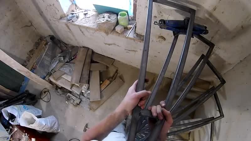 Каркас винтовой лестницы своими руками Самодельная винтовая лестница Часть 1 Сделал сам