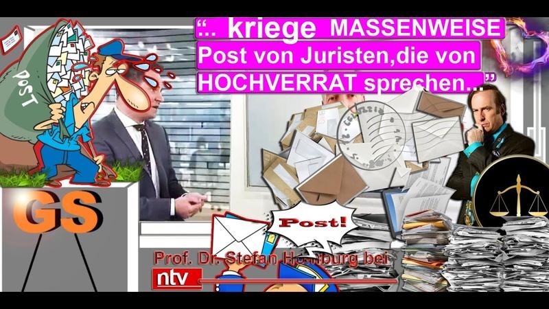Prof Dr Homburg bei ntv MASSENWEISE Post von Juristen die von HOCHVERRAT sprechen