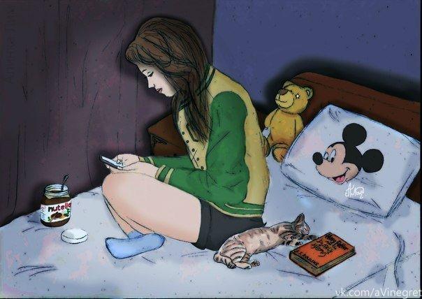 Картинка девушку которая болеет смешные