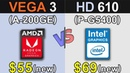 Vega 3 (Athlon 200GE) Vs. HD 610 (Pentium G5400)   iGPU Gaming Benchmarks