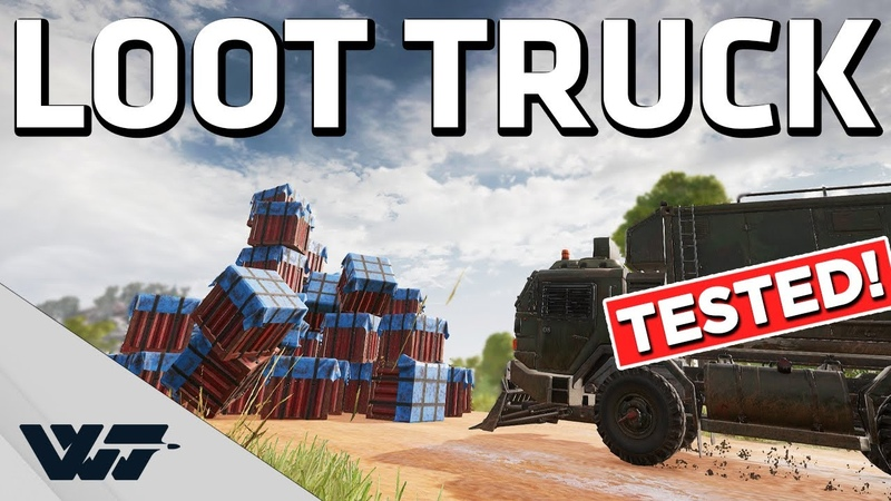 LOOT TRUCK TESTED Can it be stopped Fun experiments PUBG