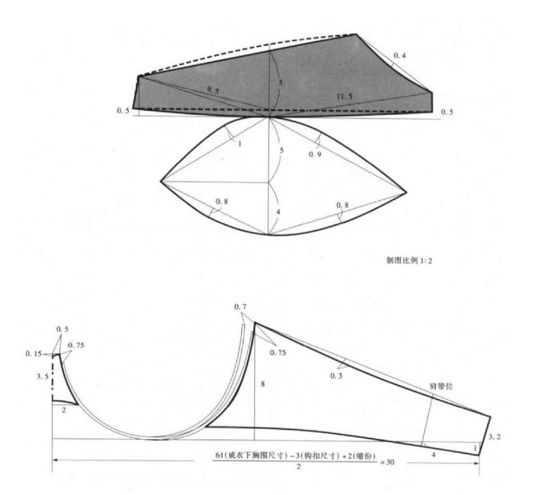 #Шьем_нижнее_белье: чертежи конструкций бюстгальтеров