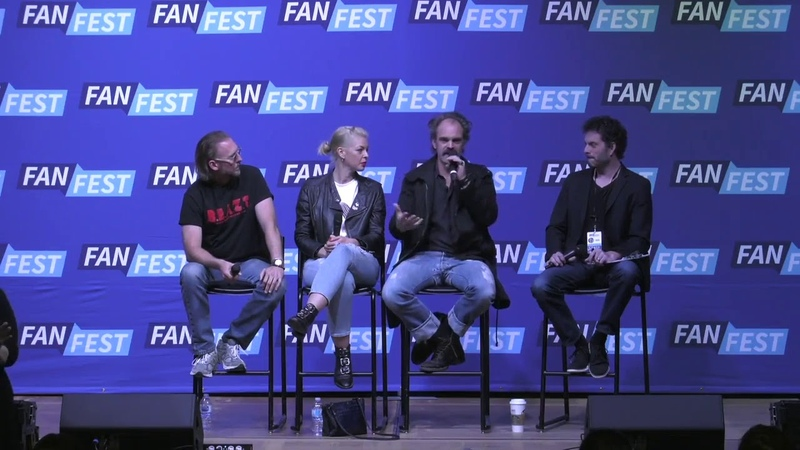 The Walking Dead Steven Ogg Pollyanna Mcintosh Jayson Warner Smith Panel FF Chicago 2018