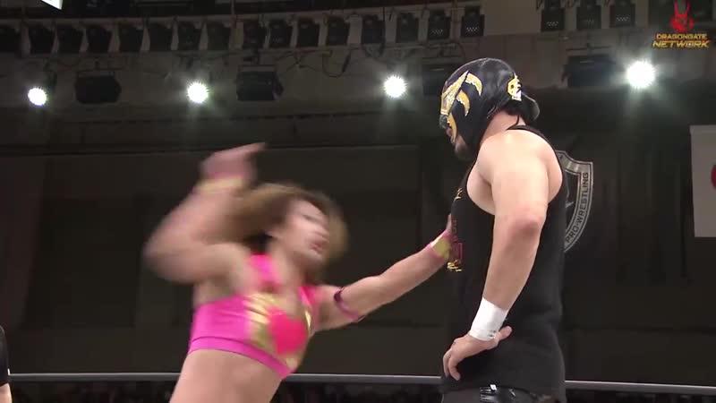 H Y O Yoshida Diamante c vs Dragon Kid Arai Ryo Saito vs Keisuke Okuda SM J Yosuke Santa Maria