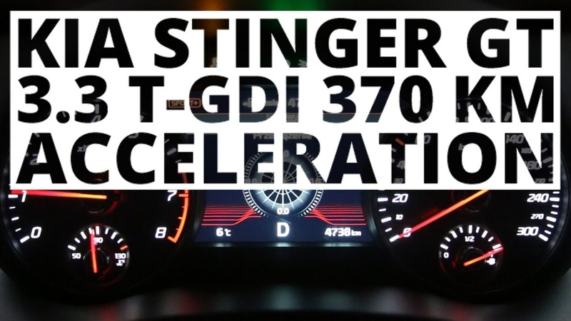 Kia Stinger GT 3 3 T GDI 370 KM AT acceleration 0 100 km h