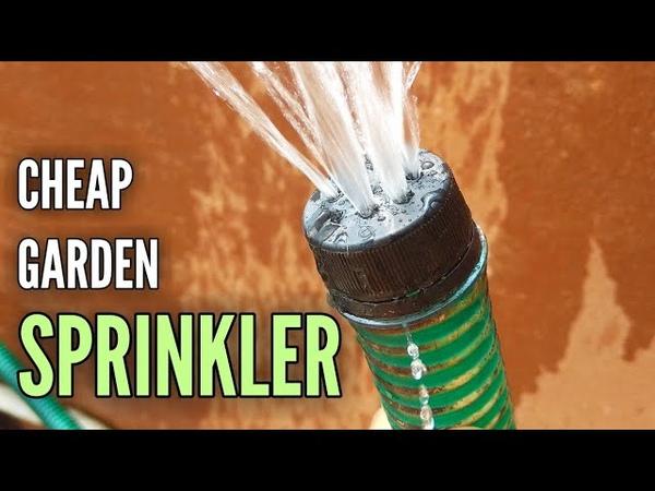 How to Make Cheap Garden Sprinkler Shower with Plastic Bottle Cap