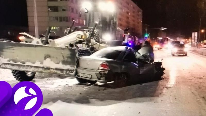 Сломал ось автогрейдера. Серьезное ДТП в Новом Уренгое. Время Ямала