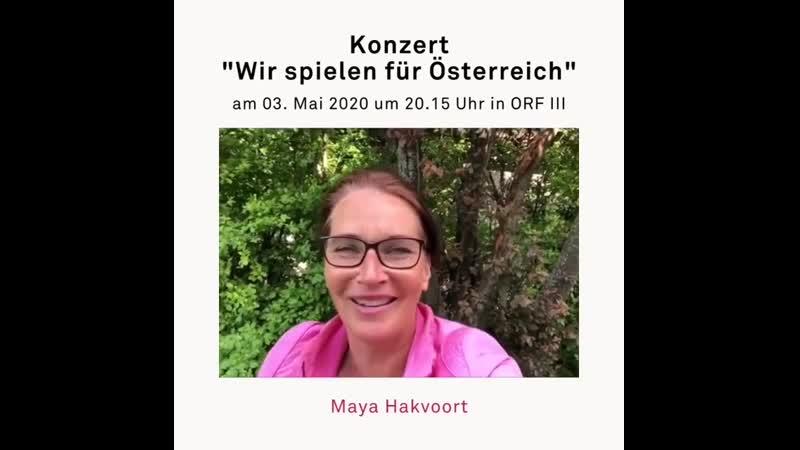 Maya Hakvoort Konzert Wir spielen für Österreich