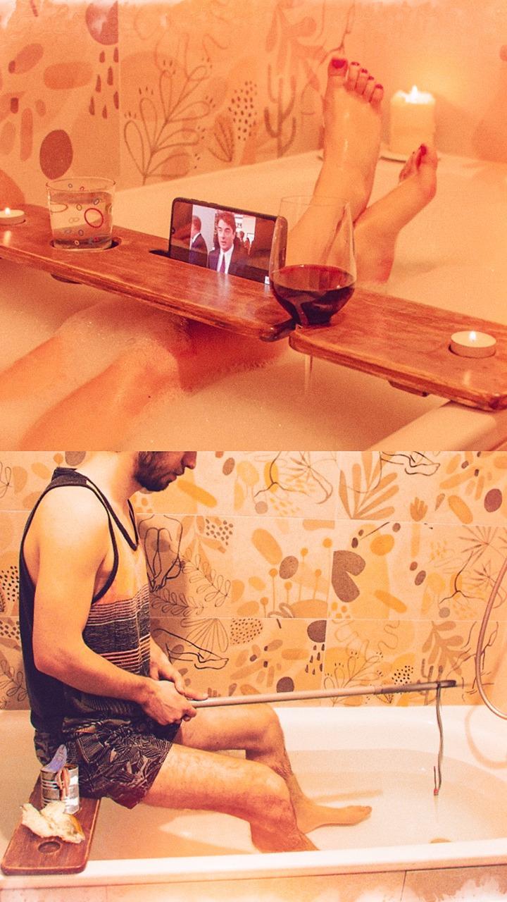 Многофункциональный столик через ванну -