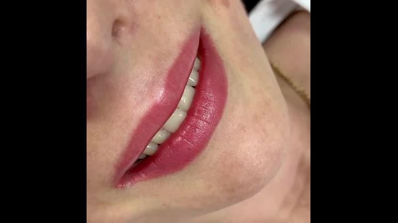 Перманентный макияж губ в Хабаровске lips 6799