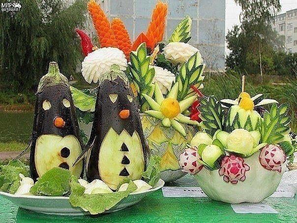 Оригинальные поделки из овощей. А вам нравятся