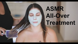 ASMR Scalp, Back, Shoulders, Neck & Face Massage | Hair Treatment | Coconut Oil | No Talking
