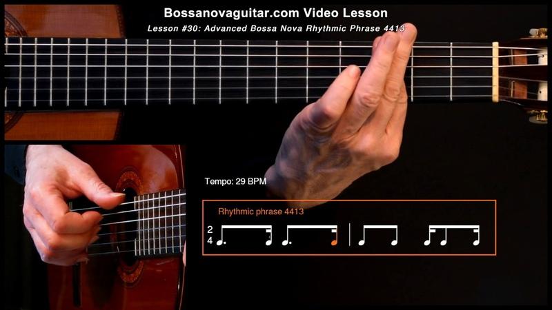 Ave Maria no Morro Bossa Nova Guitar Lesson 30 Advanced Rhythmic Phrase 4413