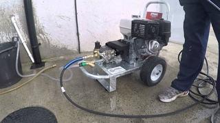Honda gx 390 4000 psi 15 litre belt driven low speed 1450 rpm Petrol pressure washer