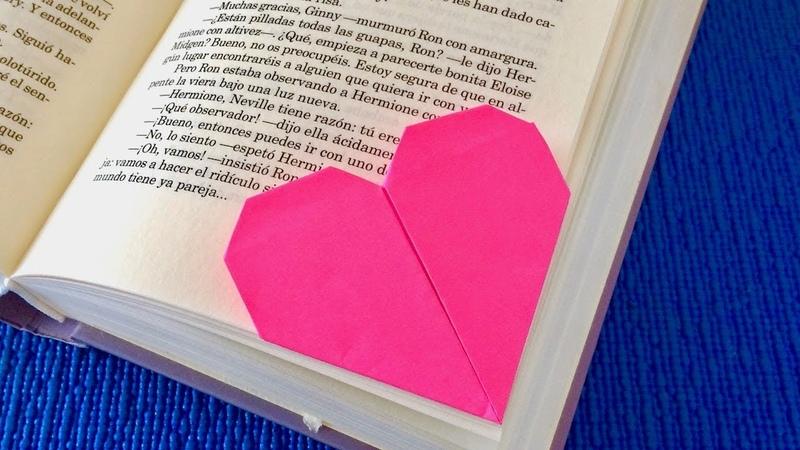 Закладка Валентика 🧡 Валентинка из бумаги своими руками легко и просто 🧡Красивая Закладка уголок!!