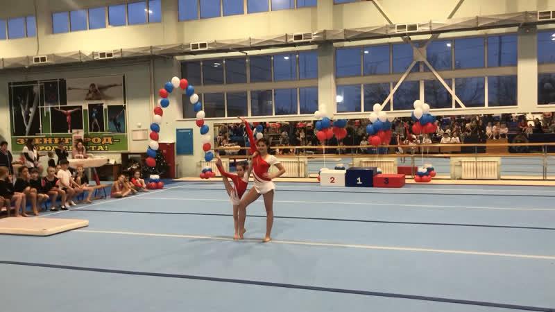 Соревнования по акробатике 1 юношеский разряд среди женских пар. 22.12.19.