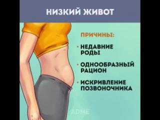 Как убрать живот, если его причина не лишний вес