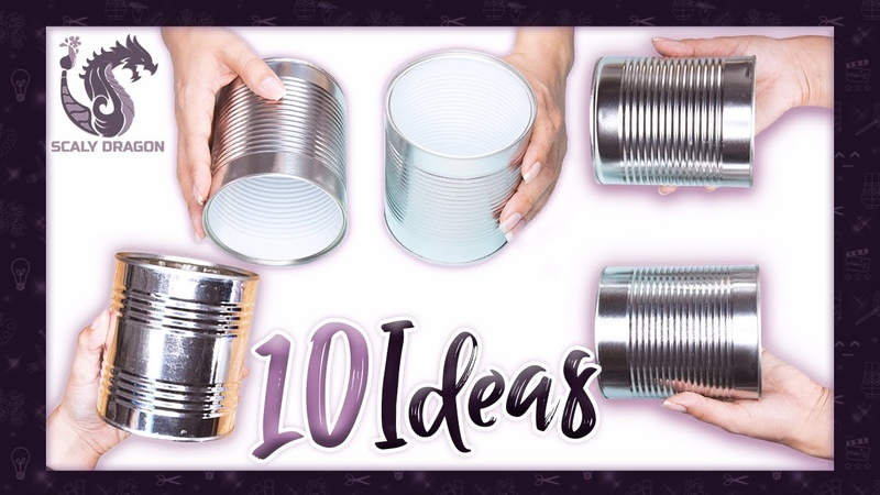 10 Ideas📌 fáciles y útiles para decorar latas de conserva ♻️