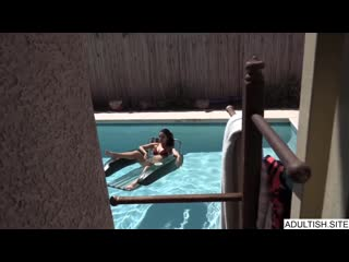 Gianna Gem - Watching Hot StepSister In Pool Before Fucking [All Sex, Hardcore, Blowjob, Incest]